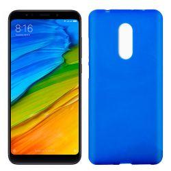 Funda de Silicona Mate y Lisa para Xiaomi Redmi 5 Azul