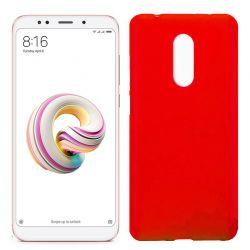 Funda de Silicona Mate y Lisa para Xiaomi Redmi 5 Plus Rojo