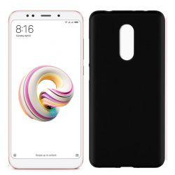 Funda de Silicona Mate y Lisa para Xiaomi Redmi 5 Plus Negro