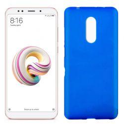 Funda de Silicona Mate y Lisa para Xiaomi Redmi 5 Plus Azul