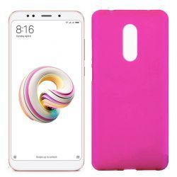 Funda de Silicona Mate y Lisa para Xiaomi Redmi 5 Plus Rosa