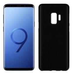 Funda de Silicona Mate y Lisa para Samsung Galaxy S9 Negro