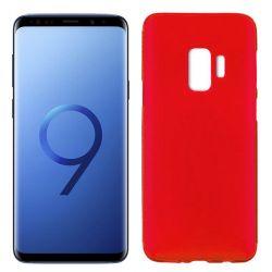 Funda de Silicona Mate y Lisa para Samsung Galaxy S9 Rojo