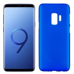 Funda de Silicona Mate y Lisa para Samsung Galaxy S9 Azul