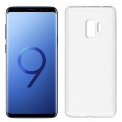 Funda de Silicona Mate y Lisa para Samsung Galaxy S9 Blanco