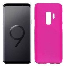 Funda de Silicona Mate y Lisa para Samsung Galaxy S9 Plus Rosa