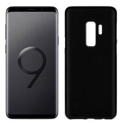 Funda de Silicona Mate y Lisa para Samsung Galaxy S9 Plus Negro