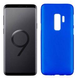 Funda de Silicona Mate y Lisa para Samsung Galaxy S9 Plus Azul