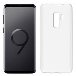 Funda de Silicona Mate y Lisa para Samsung Galaxy S9 Plus Blanco