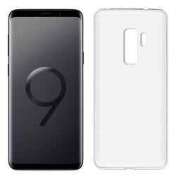 Funda de Silicona Mate y Lisa para Samsung Galaxy S9 Plus Blanco