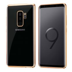 Funda de TPU Borde Cromado Metalizado Dorado - Samsung Galaxy S9 Plus