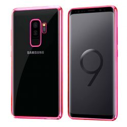 Funda de TPU Borde Cromado Metalizado Rosa - Samsung Galaxy S9 Plus