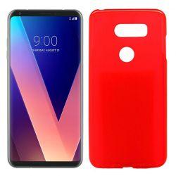 Funda de Silicona Mate Lisa para LG V30 Rojo