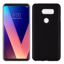 Funda de Silicona Mate Lisa para LG V30 Negro