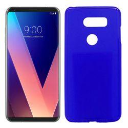 Funda de Silicona Mate Lisa para LG V30 Azul
