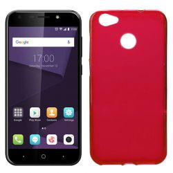Funda de Silicona Mate Lisa para ZTE Blade A6 / A6 Premium Rojo