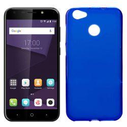 Funda de Silicona Mate Lisa para ZTE Blade A6 / A6 Premium Azul