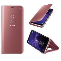 Funda de Espejo Rosa Clear View con soporte - Samsung Galaxy S9