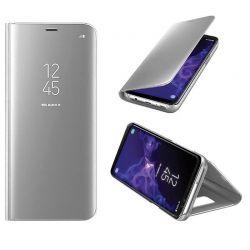 Funda de Espejo Plata Clear View con soporte - Samsung Galaxy S9 Plus