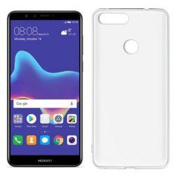 Funda de TPU Mate Lisa para Huawei Y9 2018 Silicona Blanco