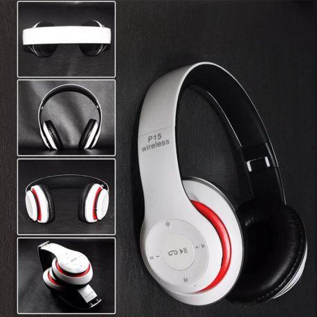 Auriculares de diadema P15 Bluetooth con Radio, MP3 y Manos