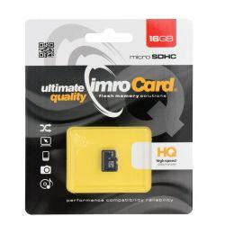 Tarjeta de Memoria Micro SD HC 16GB Clase 4 Imro para móvil y tablet