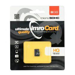 Tarjeta de Memoria Micro SD HC 8GB Clase 4 Imro para móvil y tablet