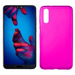 Funda de Silicona Mate Lisa para Huawei P20 color Rosa
