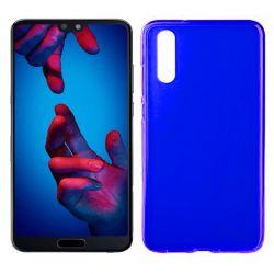 Funda de Silicona Mate Lisa para Huawei P20 color Azul