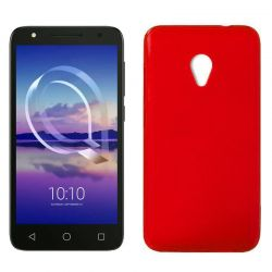 Funda de TPU Mate Lisa para Alcatel U5 4G Silicona flexible Rojo