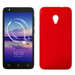 Funda de TPU Mate Lisa para Alcatel U5 4G Silicona flexible Rojo