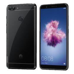 Funda de TPU con Borde Cromado Metalizado Negro - Huawei P Smart