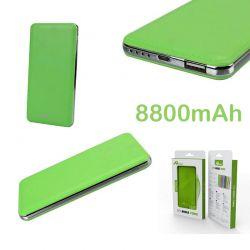 Power Bank H9 Verde, Bateria Externa 8800 mAh con salida de 2.1A