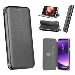 Funda de libro magnético Forcell Elegance - Samsung Galaxy A8 2018 Negro