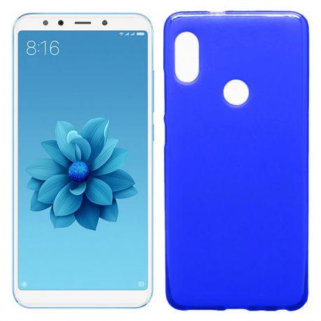 Funda de TPU Mate Lisa para Xiaomi Mi 6X / Mi A2 Silicona Flexible Azul