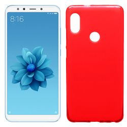 Funda de TPU Mate Lisa para Xiaomi Mi 6X / Mi A2 Silicona Flexible Rojo