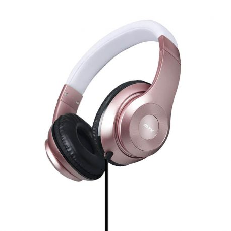 Auriculares con cable Wired Stereo Ajustables con Diadema K3407
