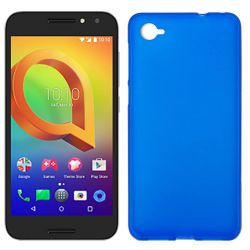 Funda de TPU Mate Lisa para Alcatel A5 Led Silicona flexible Azul