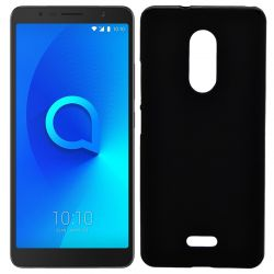 Funda de TPU Mate Lisa para Alcatel 3C Silicona flexible Negro