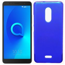 Funda de TPU Mate Lisa para Alcatel 3C Silicona flexible Azul