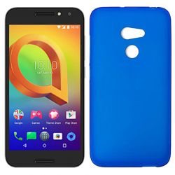 Funda de TPU Mate Lisa para Alcatel A3 Silicona flexible Azul