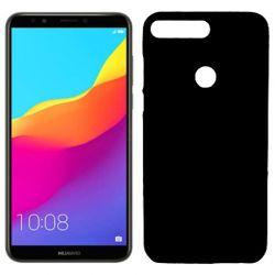 Funda de TPU Mate Lisa para Huawei Y7 2018 Silicona flexible Negro