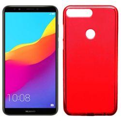 Funda de TPU Mate Lisa para Huawei Y7 2018 Silicona flexible Rojo