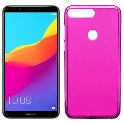 Funda de TPU Mate Lisa para Huawei Y7 2018 Silicona flexible Rosa