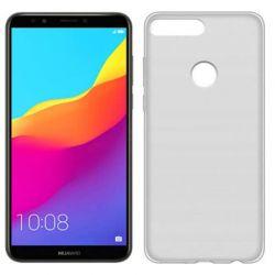 Funda de TPU Mate Lisa para Huawei Y7 2018 Silicona flexible Blanco