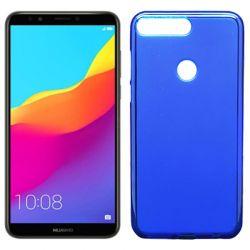 Funda de TPU Mate Lisa para Huawei Y7 2018 Silicona flexible Azul