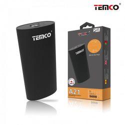 Bateria Externa Temco A21 Power Bank 5600 mAh Led de carga y Cable Usb