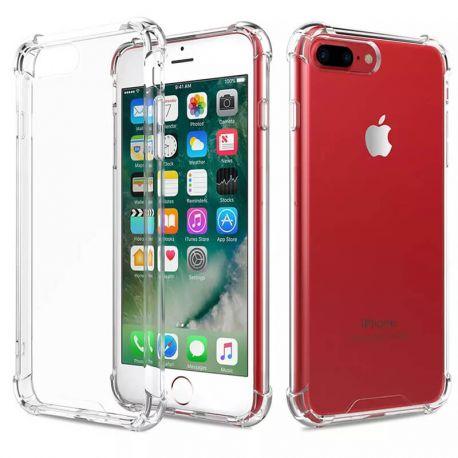 Funda iPhone 6 Plus / 7 Plus / 8 Plus transparente con borde de