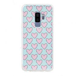 Funda de Silicona con Dibujo de Corazones para Samsung Galaxy S9 Plus
