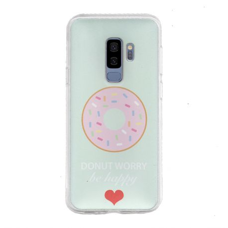 Funda de Silicona de Dibujo Donut Worry para Samsung Galaxy S9